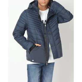 PAJAR RAIDEN MENS QUILTED 3M FEATHERLESS THINSULATE PUFFER WITH FIXED HOOD (NAVY)