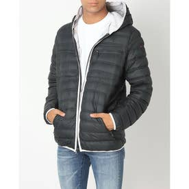 PAJAR SKYLAR MENS QUILTED 3M FEATHERLESS THINSULATE PUFFER WITH FIXED HOOD (BLACK)
