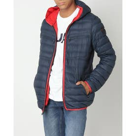 PAJAR SKYLAR MENS QUILTED 3M FEATHERLESS THINSULATE PUFFER WITH FIXED HOOD (NAVY)