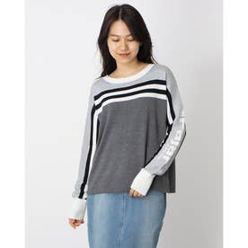 PAJAR SALMO LADIES CROPPED BOAT NECK SWEATER (CHARCOAL-HEATHER-022)