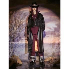 2way Leather Rider jacket coat (ブラック)