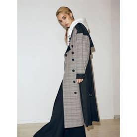 Mix Dress Coat (ブラック)