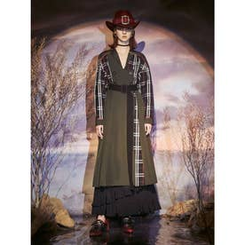Mix Dress Coat (カーキ)