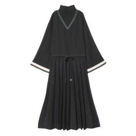 Pleats Knit Dress (ブラック)