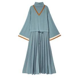 Pleats Knit Dress (スカイブルー)