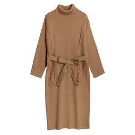 Layered Knit Dress (ベージュ)