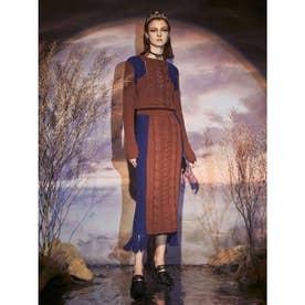 Odile Knit Skirt (ブラウン)