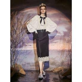 Satin Lace Skirt (ブラック)