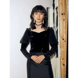 Odette Velor Top (ブラック)