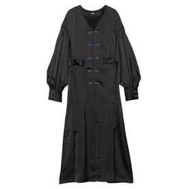 Mandarin Robe Dress (ブラック)