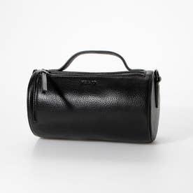 【MORITA & Co.】 Pupo プーポ バッグ ショルダーバッグ 牛革 ハンドル付き シンプルなバッグ 筒型バッグ (ブラック)