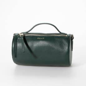 【MORITA & Co.】 Pupo プーポ バッグ ショルダーバッグ 牛革 ハンドル付き シンプルなバッグ 筒型バッグ (グリーン)