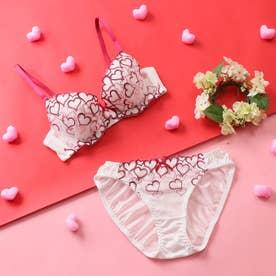 【EFカップ】Sweet Heart 3/4カップブラ&ショーツ 【返品不可商品】 (オフホワイト)