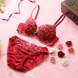 Sweet Heart 3/4カップブラ&ショーツ 【返品不可商品】 (レッド)