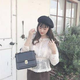 ふわふわベレー帽 (BLACK)