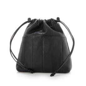 サスティナブル巾着ショルダー (ブラック)