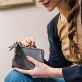アクリル玉がま口2つ折り財布 (グレー)