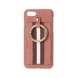 ストライプテープやぎ革iPhoneケース(iPhone6・7・8用) (ピンク)