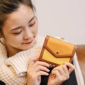 トリミング配色外ガマ二つ折り財布 (MIXYE)