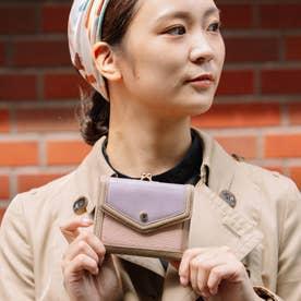 トリミング配色外ガマ二つ折り財布 (MIXLV)