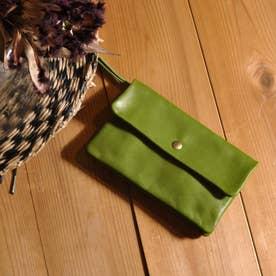 牛革袋縫いかぶせ長財布 (OL)