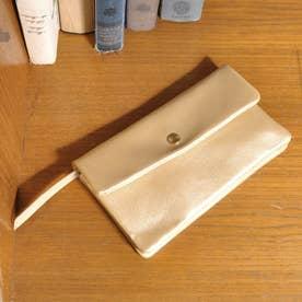 牛革袋縫いかぶせ長財布 (GD)