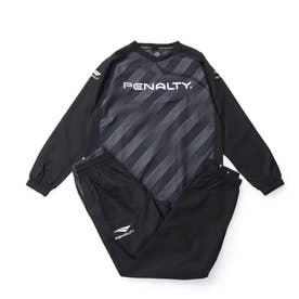 ジュニア サッカー/フットサル ウインド上下セット JRピステスーツ PO1517J (ブラック)
