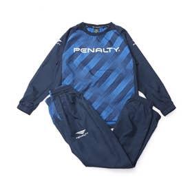 ジュニア サッカー/フットサル ウインド上下セット JRピステスーツ PO1517J (ブルー)