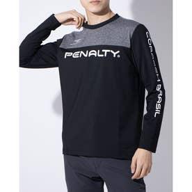 メンズ サッカー/フットサル 長袖シャツ 裏起毛プラTシャツ PT0016