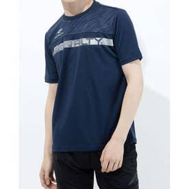 メンズ サッカー/フットサル 半袖シャツ スラッシュロゴTシャツ PT1134 (ネイビー)
