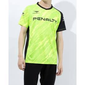メンズ サッカー/フットサル 半袖シャツ バイアスカモボーダープラトップ PU1008 (イエロー)