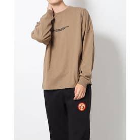 メンズ 長袖Tシャツ 裏起毛スウェットBIGプルパーカ PN-9C16011TL (ベージュ)