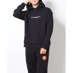メンズ スウェットパーカー 長袖ヘビーウェイトBIGTシャツ PN-9C16001TJ (ブラック)