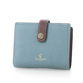 二つ折り財布 (ブルーグレー)