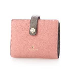 二つ折り財布 (コーラルピンク)