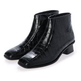 スクエアトゥショートブーツ PF20-0242(BLACK)