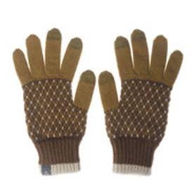 レディース トレッキング グローブ Argyle Knit Gloves PH668GL64 (BROWN)