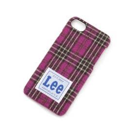 Lee カラーチェックiPhoneケース (ラズベリーピンク)