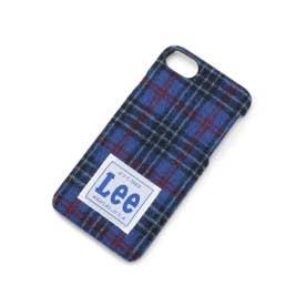 Lee カラーチェックiPhoneケース (ブルー)