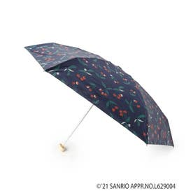 SANRIOCHARA チェリー柄ミニ折り畳み傘 (ネイビー)