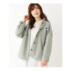 <WEB限定・LLサイズあり>CPOシャツジャケット (グリーンベージュ)