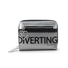 メッシュポケ二つ折り財布 (シルバー)
