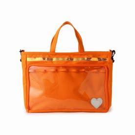 【推し活】ショルダー付きトートバッグ (オレンジ)