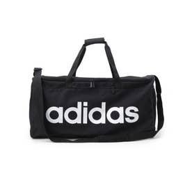 【adidas/アディダス】 ロゴ横長ビッグボストンバッグ (ブラック)