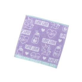 ◆ロゴ×イラスト入りミニタオル (ライトパープル(081))