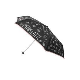 ロゴプリント 折りたたみ傘 (ブラック(019))