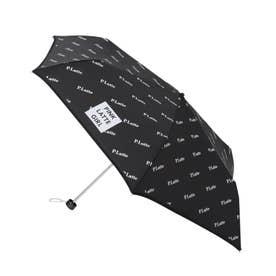 ロゴプリント 折り畳み傘 (ブラック)