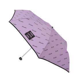 ロゴプリント 折り畳み傘 (ライトパープル)