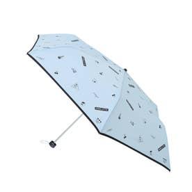 アイコンプリント 折り畳み傘 (サックス)