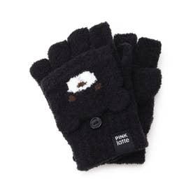 くまちゃんフード手袋 (ブラック)